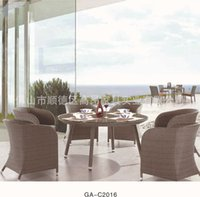 Wholesale Continental rattan furniture special high dining table and chairs lounge chair dining table and chairs stock portfolio
