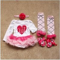 romper dress - 2015 Baby Girls Spring Clothing Kids Pretty Romper Pieces Set Sweet Princess Tutu Dress Romper Suit