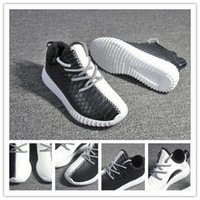 Cheap Originals Kanye West Yeezy 350 Boost White Black Fashion Children Shoes Boys And Girls Shoes Casual Sneakers Kids Shoes Sneakers