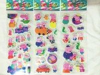 Wholesale Cartoon Sticker Peppa Pig Frozen spider man Despicable me DocMcStuffins Decorative Stickers Sticker toys cm