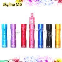 Cheap FU Skyline M6 Mod Full Machanical Mods for e-Cigarette 18650 Fuhattan M6 Mods 510 Thread Suit for RDA Tugboat Kayfun Taifun Lite Atomzier