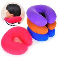 Wholesale Portable U shape massage memory foam pillow zero stress healthy U neck memory pillow home office travel respite Cushion JK8