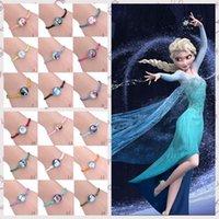 children charm bracelet - 18 Styles Elsa Anna Bracelet kid Girls Handmade Woven Bangle Charm Princess Anna Elsa Child Frozen Braided bracelet LJJF88