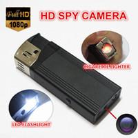 Wholesale 5pcs HD P lighter Hidden spy camera with highlighted flashlight lighter spy dv Flashlight spy camera