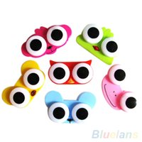 Wholesale Lovely Cute Animal Design Travel Soak Storage Cleaning Contact Lens Box Case SNR