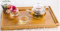 Glass tea cups - 1x in1 Mini Kung fu Coffee Tea Set fl oz ml Heat Resisting Glass Tea Pot with infuser Small Tea Cups Mugs Bamboo Tray