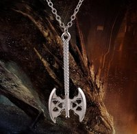 axe cross pendant - The hobbit gold axe necklace Pendant Necklaces for Men Fashion Rhinstone Men s Jewelry Top Quality Cross Pendant