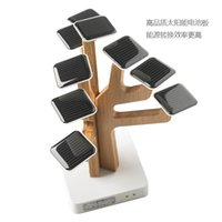 Wholesale Solar Sun tree Power bank mAh with built in data cable for mobile powerbank Creative Fancy design promotional gift