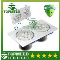 Wholesale CE High power double square Led ceiling light W W W V LED spot down lighting led light downlight spotlight by DHL