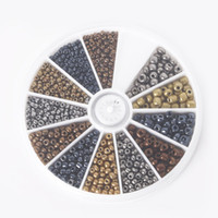 beads kit - hot mm Mixed Metal Colors Glass Seed Beads Kit Loose Spacer Beads For DIY Jewelry Making approx set BDH063 MX