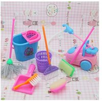 doll furniture - doll furniture set accessories for Barbie Doll Household cleaning tools for barbie dolls girl play house