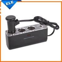 Wholesale 1 USB port Car Cigarette lighter spliter V car charger Socket adapter