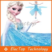 Wholesale Flying Princess ELSA Induction Helicopter LED Flying Toys best Christmas Gift