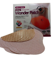 Wholesale 5 set mymi wonder patch belly slimming cream stickers Belly Wing Abdomen Body Stomach tummy weight loss fat burning slim patch