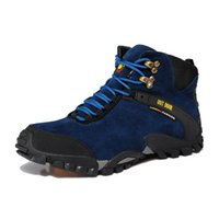 Wholesale Leather Work Tooling Shoes Autumn Winter Men Waterproof Warm Outdoor Hiking Boot Comfortable Climbing Boots