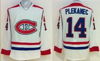 Cheap Canadiens #14 Tomas Plekanec Hockey Jerseys Brand Hockey Uniforms Highest Quality Cheap Sports Wears Top Hockey Apparel Hot Sale