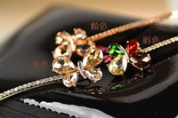 Wholesale 2016 New Arrival Women Girls Crystal Rhinestone Butterfly Hair Pin Wedding Hair Accessories Hair Clips Hairwear