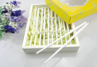 Wholesale Pure white ceramic chopsticks General high grade white sterile mildewy easy to clean and environmental protection chopsticks With chopsticks
