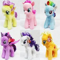 Wholesale Plush Toys Horse Children Cute Popular Fine Fashion My Little Pony High Quality Horse Kids Decorations Colorful Doll Lovely Boys Girls Toys