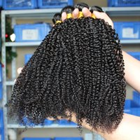 Curly Brazilian Hair Hair Extension 3pcs Lot Brazilian Peruvian Malaysian Indian Mongolian Virgin Afro Kinky Curly Hair Extensions High Quality 10-26inch Mix Length