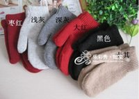 Wholesale 12pcs Women Men Winter Fashion Mixed Wool Warm Gloves Student Gloves Christmas Gift