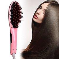 New Professional Hair Straightener pente escova Display LCD Aquecimento Eléctrico Alisamento Irons escova de cabelo Aquecimento Comb cabelo Ceramic Hetero