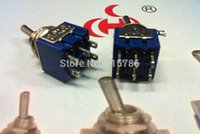 Wholesale MTS DPDT mini toggle switch ON ON Chrome pin A V A V