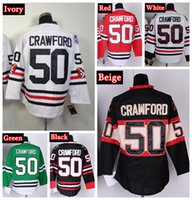 Wholesale Cheap Chicago Blackhawks Corey Crawford Hockey Jerseys Winter Classic White Home Red Stitched Jersey Mix Order