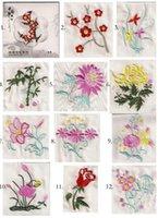 handkerchiefs ladies white embroidered - White Simple Fashion Silk Embroidered Handkerchief Favors Flower Pattern Women s Chinese Gift mix style