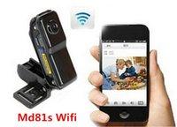 Wholesale Wifi Mini DV Wireless IP Camera WiFi Spy Camera MD81 Hidden camcorder Video Recorder mini DV MD81 MD81S Cheapest