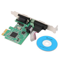 Wholesale 2016 Newest PCI E PCI Express Dual Serial DB9 RS232 Ports Controller Adapter Card