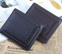 Wholesale Tops Exports New Style Mens Brand Designer Leather Luxury Purse Wallet Short Cross High Quality Wallets For Men
