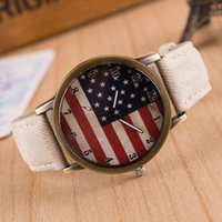 best american watches - Best Selling Brand New American Flag Dial Canvas Grain Belt Watches Women s Jeans Fabric Band Wristwatches Men s Sports Casual Quartz Watch