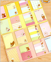 Wholesale 20 off rilakkuma times fold Scratch Pad note convenience Sticker N times stickers notes stickers office school supplies