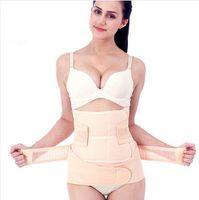 Wholesale Maternity abdomen drawing band set binding with elastic body shaping waist belt remedical corset body suit