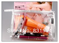 Wholesale Clear Cosmetic Bag Travel Case Purse Makeup Organizer Airport Zip Pouch Hand Bag