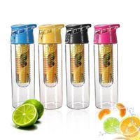 Wholesale 800ML Fruit Infusing Infuser Water Sports Lemon Juice Bottle Flip Lid Suitable Kitchen Table Camping Travel Outdoor Application