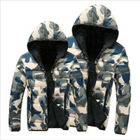 Cheap New Fashion Winter Coat Clothes for Women and Men 2015 Hooded Camouflage Lovers Warm Thick Cotton-padded Jacket Casual Parkas Jacket Coats