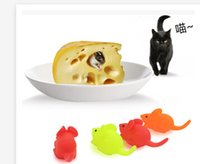 Wholesale New Lovely mice evade glue voice cat toys Molar environmental non toxic toys pet toys