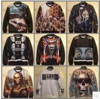 beauty lisa - 2014 New fashion Autumn winter Women Men cotton d hoodies print skull sexy beauty Indian Mona Lisa d sweatshirts