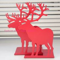 Wholesale 2pcs Pair stationery metal cartoon deer bookend book file book end iron bookend Christmas gift bookend