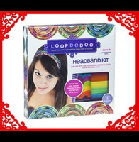 handmade product - Loopdedoo Headband Kit handmade accessories handmade kit product Loopdedoo Loomband spinning loom kit
