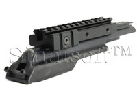 Wholesale Stealth Black MTAK Receiver Cover AK AK47 Tri Rail Weaver Picatinny Scope Mount With Adjustable Side Weaver Tabs For Accessory
