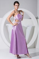 dresses uk - Fast Delivery Sexy Sweetheart Hollow Waist With Beads Lavender Satin Party Dresses Collection Side Slit For Christmas Party Online UK