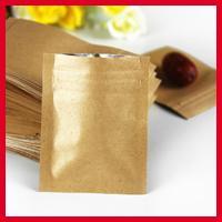 bean bag retail - 400pcs cm cm mic High Quality Kraft Paper Coffee Bean Bags Small Zipper Pouch Heat Seal Retail Bags