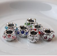 pandora style beads - 60PCs Mixed High Quality stainless steel pandora Charms beads Fit DIY European Charm Bracelets For Pandora Style Jewelry