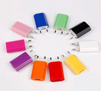 Wholesale 5V mah Colorful EU US Plug USB Wall Charger AC Power Adapter Home Charger for iphone Samsung Galaxy S6