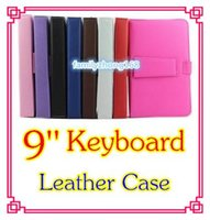 Wholesale NEW colours USB Keyboard Leather Case For inch Android Tablet pc Folding Leather Protective Case DD01