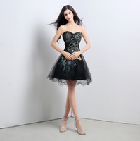 Wholesale 2015 Black Sexy Short Prom Dress with Embroidered Crystal Sequin real Picture party Dresses Sequins Crystal Cheap Mini Coaktail Gowns