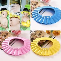 Wholesale Adjustable Soft EVA Baby Kids Children Waterproof Protect Bath Shower Shampoo Cap Hat Wash Bathing Hair Cut Shield